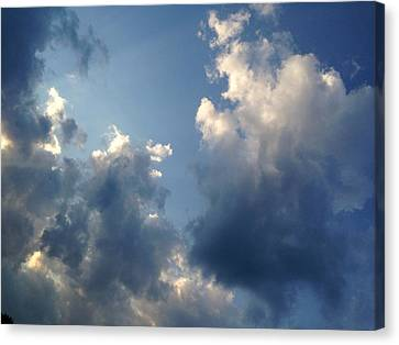 Heavenly Clouds Canvas Print by Lisa Pearlman