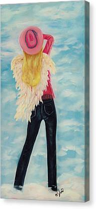 Heavenly Cowgirl Canvas Print by Joni McPherson