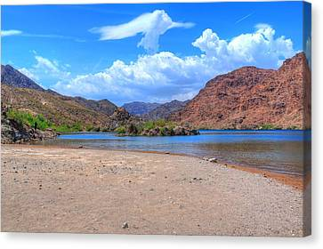 Heavenly Experience At Lake Mohave Canvas Print by John Absher