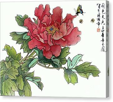 Heavenly Flower Canvas Print by Yufeng Wang