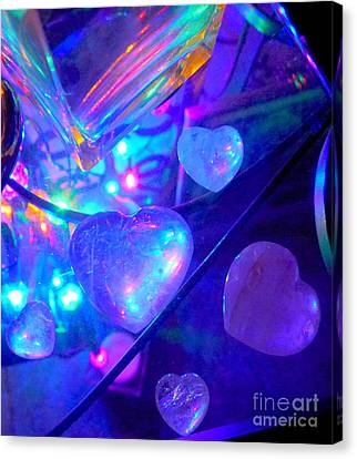 Heavenly Hearts Canvas Print by Marlene Rose Besso