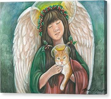 Heavenly Kitty Canvas Print by Linda Nielsen