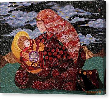 Heavenly Mother And Child Canvas Print by Dede Shamel Davalos