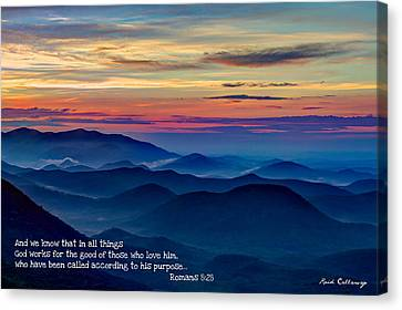 Heavenly View Sunrise And Faith Canvas Print by Reid Callaway