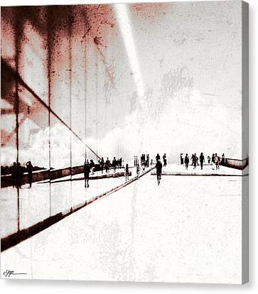 Heavenly Walk In Oslo 1 Canvas Print by Marianne Hope