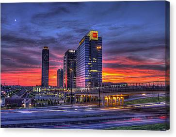 Heavens Ablaze Atlantic Station Banking Canvas Print