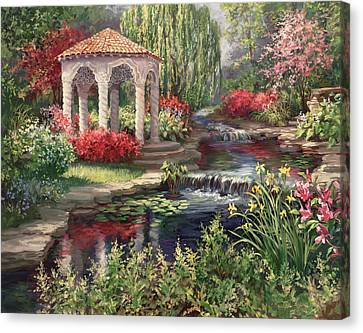 Heaven's Garden Canvas Print by Laurie Hein