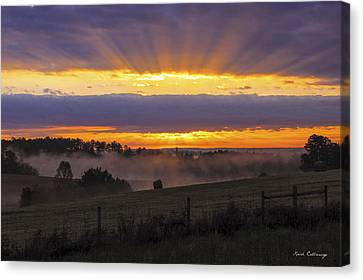 Heavens Glow Walker Church Road Sunrise Canvas Print by Reid Callaway