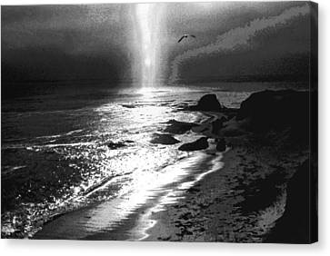 Heavens Light Black And White Canvas Print by Gary Brandes