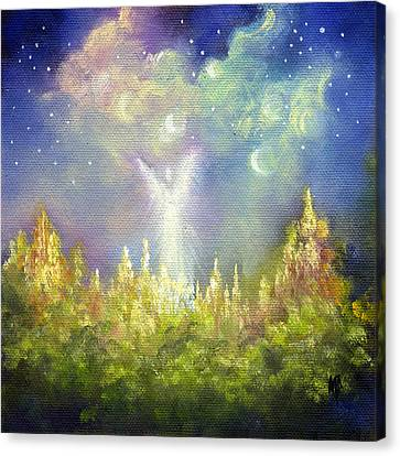 Canvas Print featuring the painting Heaven's Little Angel by Marina Petro
