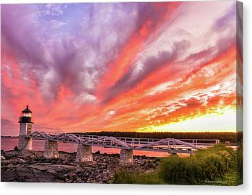 Mid-coast Maine Canvas Print - Heavens On Fire - Port Clyde by Expressive Landscapes Fine Art Photography by Thom