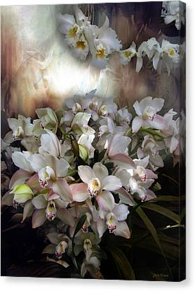 Canvas Print featuring the photograph Heavens Orchids by John Rivera