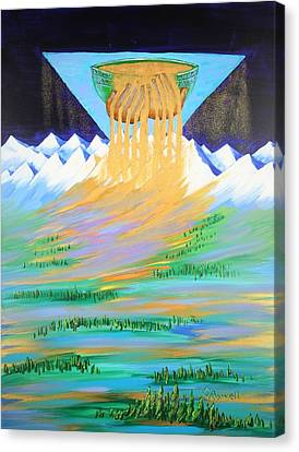 Heaven's Overflow Canvas Print by Gary Rowell