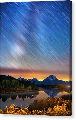 Heavens Rains Canvas Print by Darren White