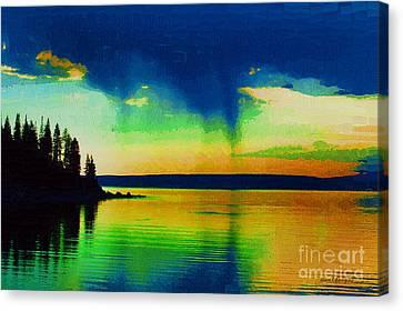 Heaven's Rest Canvas Print by Diane E Berry