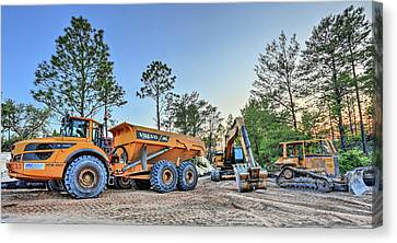 Heavy Equipment Canvas Print by JC Findley