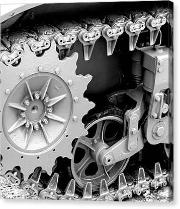Heavy Metal In Gray Canvas Print by Valerie Fuqua