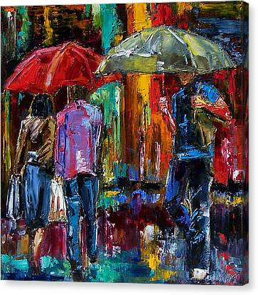 Heavy Rain Canvas Print by Debra Hurd