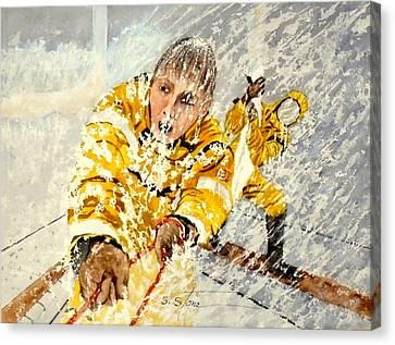 Heavy Seas Canvas Print by Sandra Stone