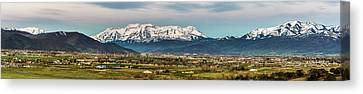 Heber City And The Western Mountains Canvas Print by TL Mair