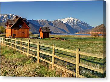 Heber Valley Ranch House - Wasatch Mountains Canvas Print by Gary Whitton