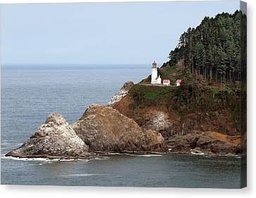 Heceta Head Lighthouse - Oregon's Scenic Pacific Coast Viewpoint Canvas Print by Christine Till