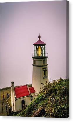Heceta Head Lighthouse In The Fog Canvas Print