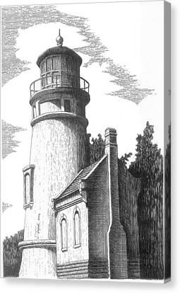 Heceta Head Lighthouse Canvas Print by Lawrence Tripoli