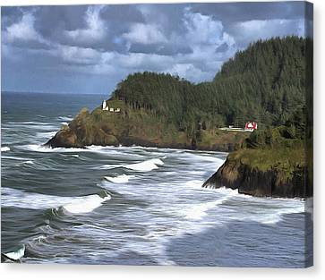 Oregon Coast Canvas Print - Heceta Head Lighthouse by Thom Zehrfeld