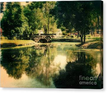 Heckscher Park Pond, Huntington Ny Canvas Print