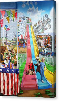 Hecksher Park Fair Canvas Print by Bonnie Siracusa