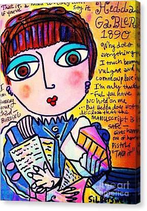 Hedda Gabler Canvas Print by Sandra Silberzweig
