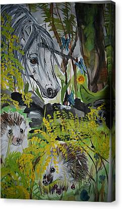 Hedgies Canvas Print
