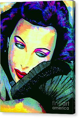 Hedy Lamarr Canvas Print by Colleen Kammerer