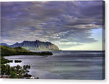 He'eia And Kualoa 2nd Crop Canvas Print