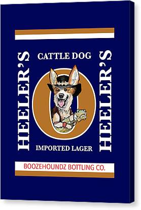 Heeler's Cattle Dog Imported Lager Canvas Print by John LaFree