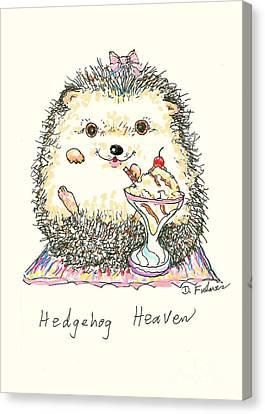 Hedgehog Heaven Canvas Print