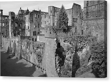 Canvas Print featuring the photograph Heidelberg Castle Behind The Scenes by Corinne Rhode