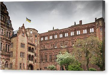Heidelberg Castle On A Stormy Day Canvas Print by Teresa Mucha