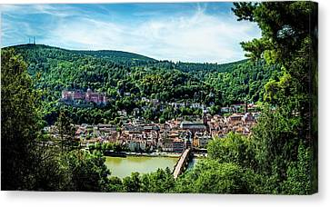 Canvas Print featuring the photograph Heidelberg Germany by David Morefield