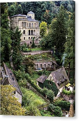 Canvas Print featuring the photograph Heidelberg Hillside by Jim Hill