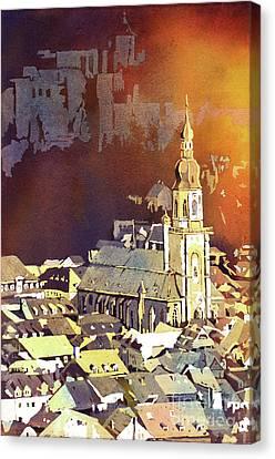 Heidelberg Sunset- Germany Canvas Print by Ryan Fox