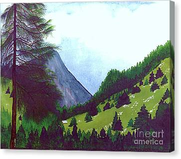 Canvas Print featuring the painting Heidi's Place by Patricia Griffin Brett
