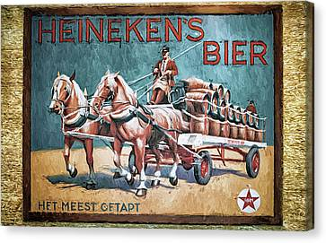 Heineken's Beer The Most Tapped Canvas Print