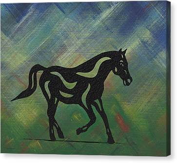 Heinrich - Abstract Horse Canvas Print by Manuel Sueess