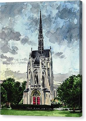 Heinz Chapel University Of Pittsburgh Pennsylvania Architecture Wedding Cathedral Of Learning Pitt Canvas Print by Laura Row