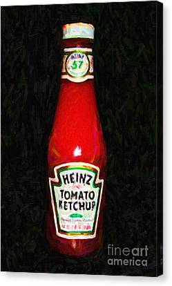 Hamburger Canvas Print - Heinz Tomato Ketchup by Wingsdomain Art and Photography