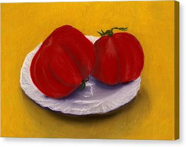Organic Canvas Print - Heirloom Tomatoes by Anastasiya Malakhova