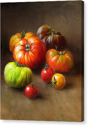 Tomato Canvas Print - Heirloom Tomatoes by Robert Papp