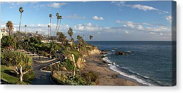 Canvas Print featuring the photograph Heisler Park Panoramic by Cliff Wassmann
